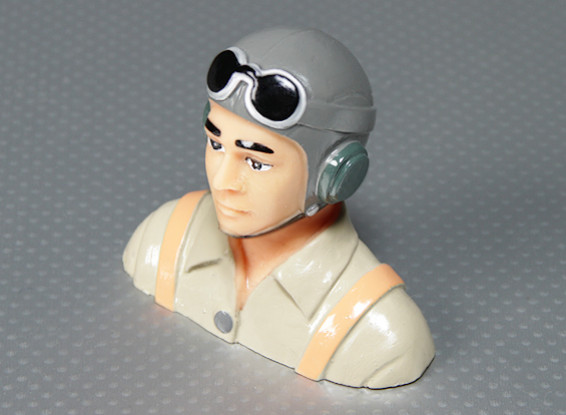 WWII Modell Pilot (H70 x W83 x D35mm)