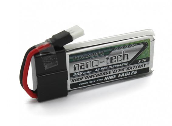 Turnigy Nano-Tech-300mAh 1S 45 ~ 90C Lipo-Pack (Passend für Nine Eagles Solo-Pro 100)