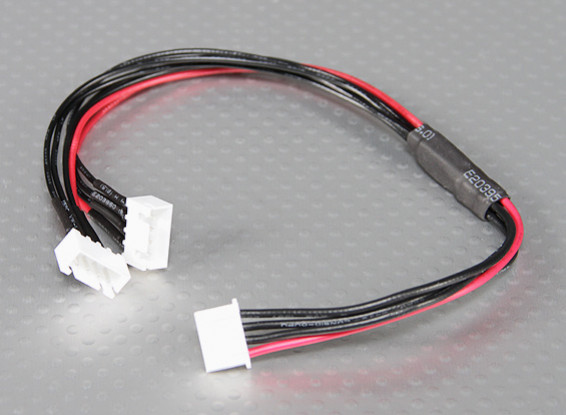 JST-XH Parallel Rest Blei 3S 250mm (2xJST-XH)