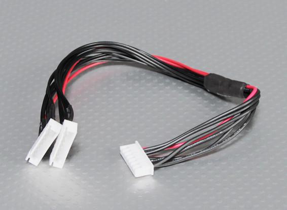 JST-XH Parallel Rest Blei 6S 250mm (2xJST-XH)