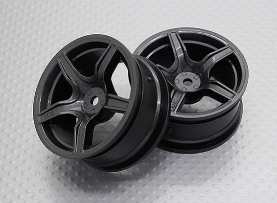 Maßstab 1:10 Hohe Qualität Touring / Drift Felgen RC Car 12mm Hex (2pc) CR-C63M
