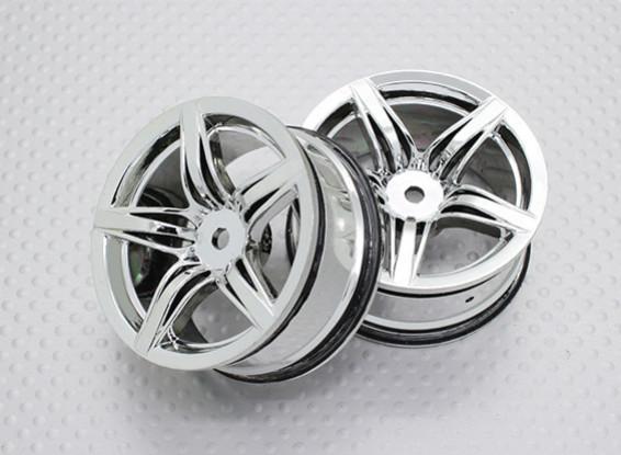 Maßstab 1:10 Hohe Qualität Touring / Drift Felgen RC Car 12mm Hex (2pc) CR-F12C