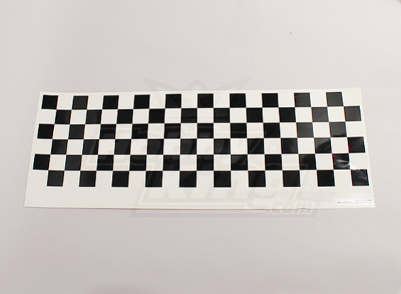 Decal Sheet Chequer Muster Schwarz / Clear 590mmx180mm