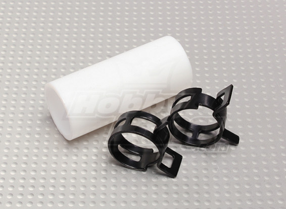 Teflon-Koppler mit Clips (22mm Pipe) für Schalldämpfer