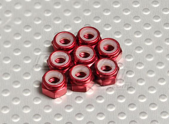 Red eloxiertes Aluminium M4 Nylock Muttern (8pcs)