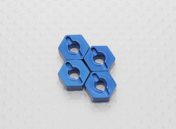 Maßstab 1:10 Aluminium Hex Hub 12mm - Blau (4PC)