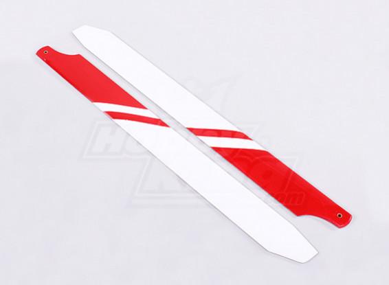 360mm Karbon / Glasfaser-Composite-Hauptblatt (weiß / rot)