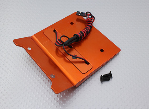 CNC Dekoration Dach mit LED-Licht-Set (orange) - Baja 260 und 260S