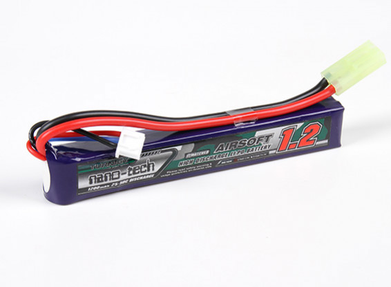 Turnigy Nano-Tech-1200mAh 2S 25-50C Lipo AIRSOFT-Pack