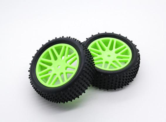 Hobbyking 1/10 Belüfter Y-Speichen (Grün) Rad / Reifen 12mm Hex (2 Stück / Beutel)