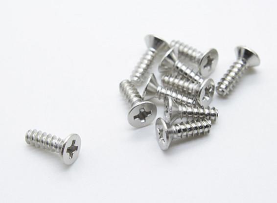 Toxic Nitro - Flachkopf 3 * 10mm (10 Stück)