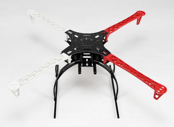 Z700-V2 Quadcopter Rahmen Weiß / Rot mit Krabben Fahrwerk (700 mm) V2