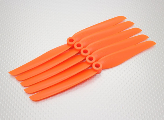 GWS Stil Slowfly Propeller 7x3.5 Orange (CCW) (5 Stück)