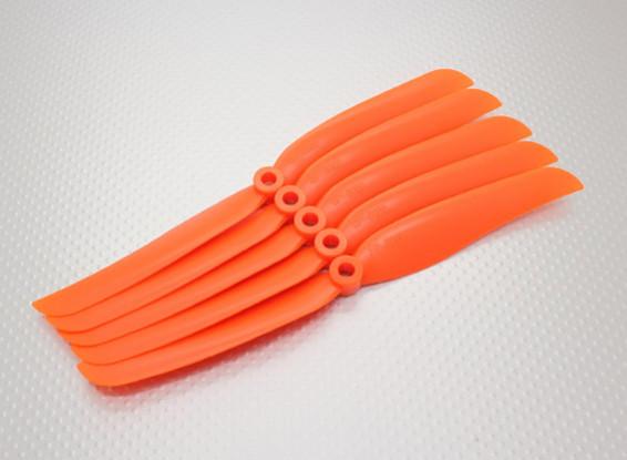 Hobbyking ™ Propeller 8x6 Orange (CCW) (5 Stück)