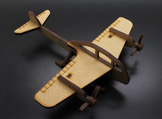 Militärkampfbomber Laser Cut Holz Modell (KIT)