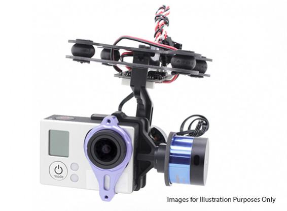 Tarot T-2D GoPro 3 Brushless Kamera Gimbal und ZYX22-Controller