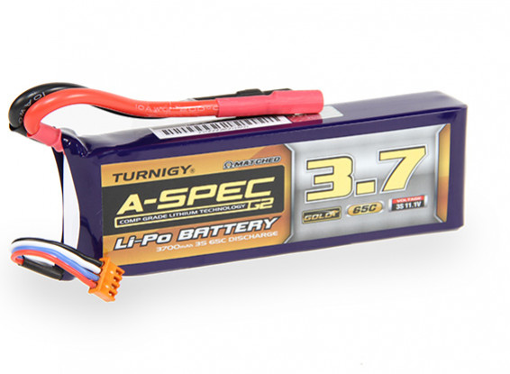 Turnigy Nano-Tech-A-SPEC G2 3700mAh 3S 65 ~ 130C Lipo-Pack