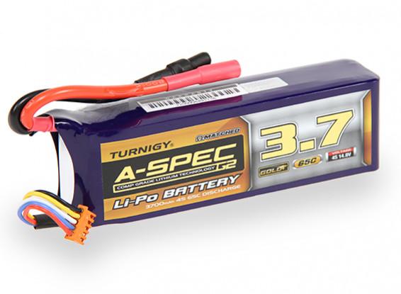 Turnigy Nano-Tech-A-SPEC G2 3700mAh 4S 65 ~ 130C Lipo-Pack