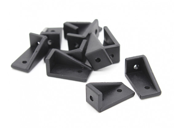 RotorBits 20x10 rechtwinklig Bracket LH (Schwarz) (10pcs / bag)