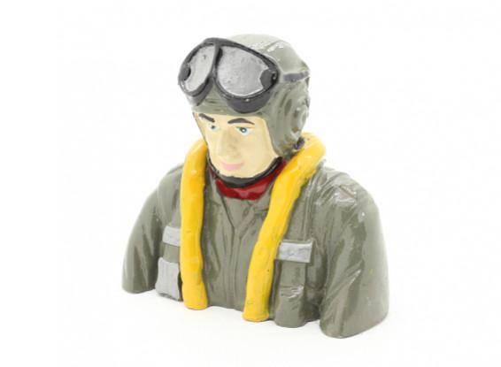 WWII deutsche Pilot (H78 x W84 x T42mm)