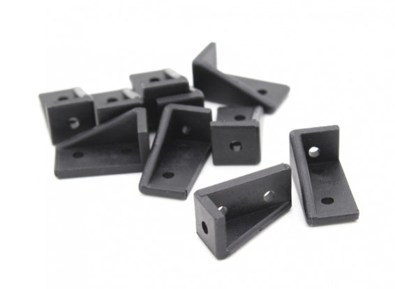 RotorBits 20x10 rechtwinklig Bracket RH (schwarz) (10pcs / bag)