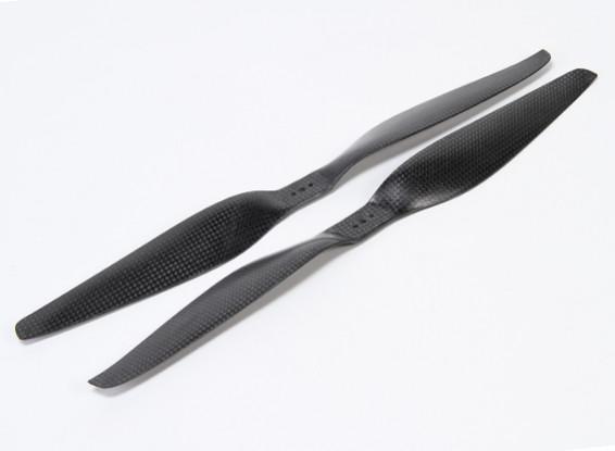 Acromodelle Carbon-Faser T-Style Propeller 14x5.5 Schwarz (CW / CCW) (2 Stück)