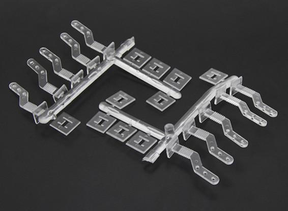 Schieben durch transparente Zip Horn (10 Stück)