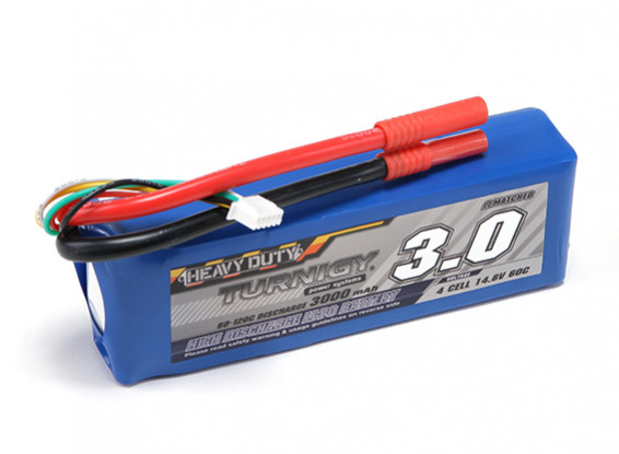 Turnigy Heavy Duty 3000mAh 4S 60C Lipo-Pack