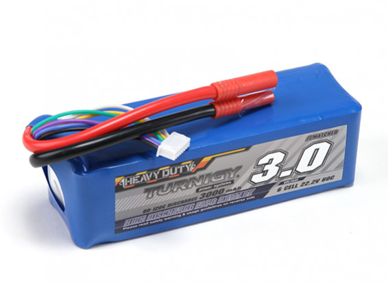 Turnigy Heavy Duty 3000mAh 6S 60C Lipo-Pack