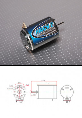 Turnigy Mach2 9.5T Brushless Car Motor w / Timing adj (4900Kv)