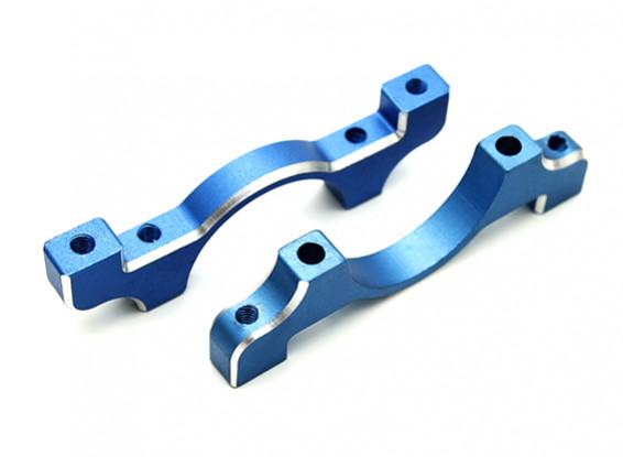 Blau eloxiert CNC-Aluminiumrohrklemme 20 mm Durchmesser