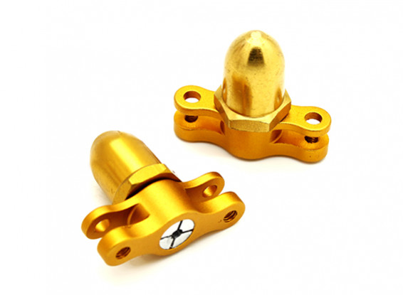 2mm 2 Klinge CNC Folding Propeller Adapter CW & CCW (Gold)