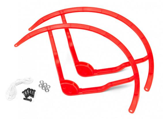 8-Zoll-Kunststoff-Multi-Rotor Propeller Schutz für DJI Phantom 1 - Rot (2set)