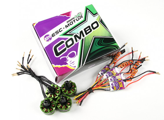 Multistar & Afro Combo Pack - 2206 Baby-Tier V2 Motor und 12A Afro ESC Set von 4 CW / CCW