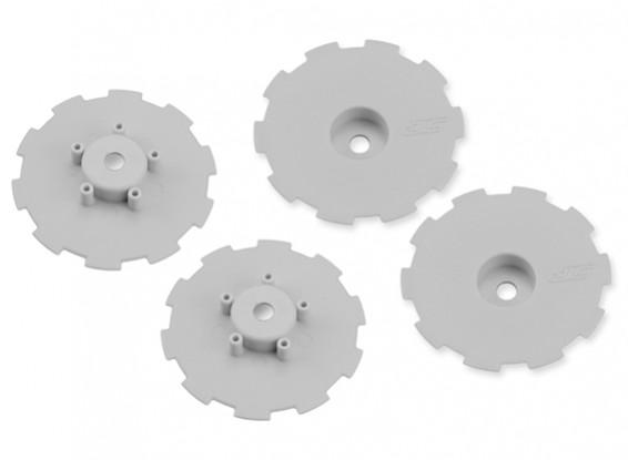 JConcepts Hazard SC10 / SC10 4x4 Rad-Dish - Weiß - 4-teilig