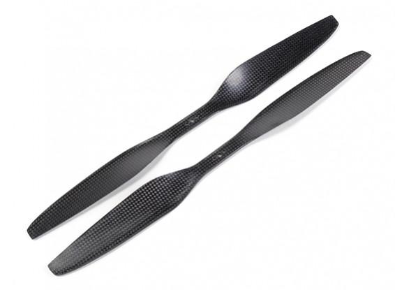 Acromodelle Carbon-Faser T-Style Propeller 15x5.5 Schwarz (CW / CCW) (2 Stück)