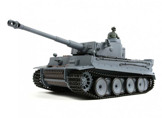 Deutsch Tiger I RC Panzer RTR w / Airsoft / Smoke & Tx (EU-Stecker)