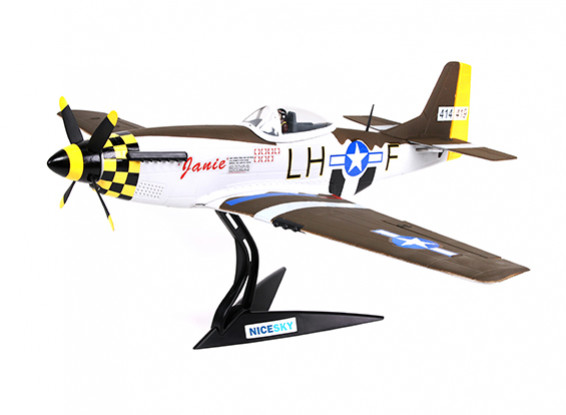 """North American P-51D Mustang """"Janie"""" 680mm 4-Kanal-Scale-Kämpfer"""
