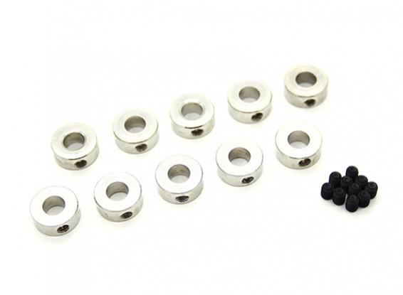 Fahrwerk Rad-Anschlaghülse für 5mm Achse (10 Stück)