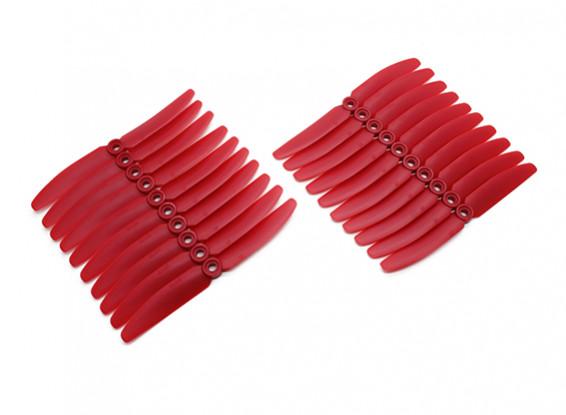 Gemfan 5030 Acromodelle ABS Propellers Großpackung (10 Paare) CW CCW (rot)