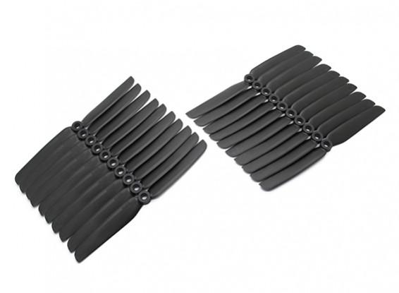 Gemfan Acromodelle CRP Großpackung 6x3 Black (CW / CCW) (10 Paare)