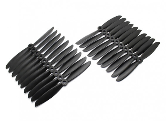 Gemfan Acromodelle CRP Großpackung 6x4,5 Black (CW / CCW) (10 Paare)