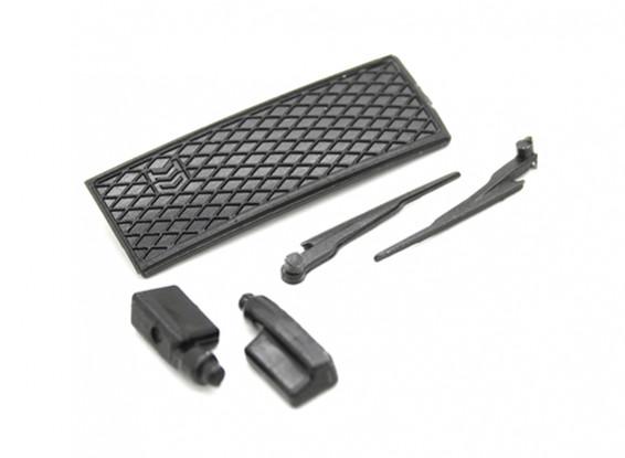 Wisch- / Seitenspiegel / Grill Set - OH35P01 1/35 Rock Crawler Kit