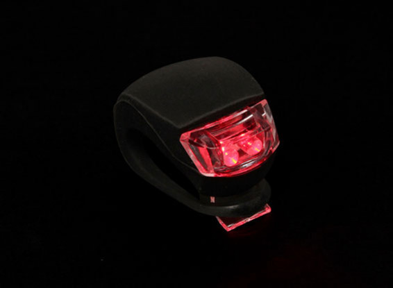 Schwarz Silicon Mini-Lampe (rote LED)