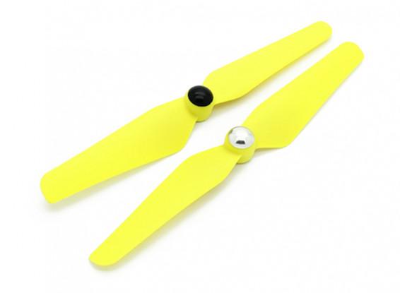 Quanum Selbstanzugs Nylon Propeller 6x3.2 Gelb (CW / CCW) (2 Stück)
