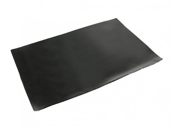 Schwingungsdämpfung Blatt 210x145x1.5mm (schwarz) mit 3M Doppelseitiges Klebeband