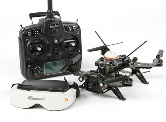 Walkera Runner 250 RTF FPV Racing Quadcopter w / Mode 1 Devo 7 / Batterie / Goggles / Kamera / VTX / OSD