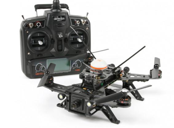 Walkera Runner 250 FPV Racing Quadcopter w / Mode 2 Devo 7 / Akku / Ladegerät / Kamera / VTX / OSD (RTF)