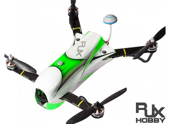 RJX CAOS 330 FPV Racing Quad Combo w / Motor, ESC, Flugsteuerung, Kamera & FPV-System (Grün)