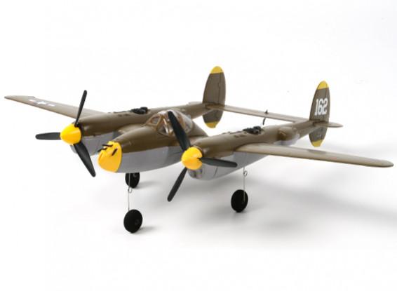 P-38 Lightning Twin 525mm w / Lipo Akku (DSM2 kompatibel)